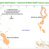 Sangihe Gold Project – Contract of Work (CoW) Tenure Location