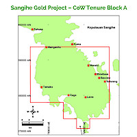 Sangihe Gold Project – CoW Tenure Block A