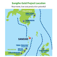 Sangihe Gold Project Location