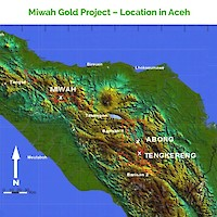 Miwah Gold Project – Location in Aceh