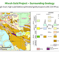 Miwah Gold Project – Surrounding Geology
