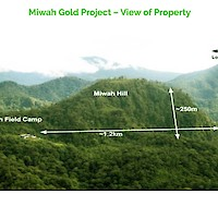 Miwah Gold Project – View of Property